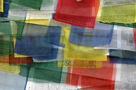 Prayer flags - gebeds vlaggetjes...